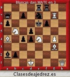 Blancas dan mate! http://www.clasesdeajedrez.es/problemas-de-ajedrez/… #ajedrez