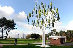 Nowa technologia nosi nazwę Wind Tree. Na pierwszy rzut oka przypomina drzewo z zielonymi owocami. Kiedy przyjrzymy się wynalazkowi bliżej, dostrzeżemy, że korona składa się z niewielkich turbin wiatrowych obracających się w pionie. To właśnie one generują energię elektryczną z wiatru. Sama konstrukcja ma aż 11 metrów wysokości! Pojedyncze drzewo ma moc 3,1 kW, co wprawdzie nie jest wartością zbyt wielką, ale za sprawą niewielkiej masy turbin, może wytwarzać energię przez co najmniej 280 dni…