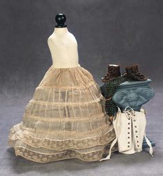 Doll accessories...1892 via Theriaults...love the hoops!