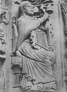 TICMUSart: La musique, avec un carillon, une giga ou vièle en huit, et un psaltérion (S. XII) (I.M.)