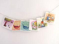 Set van 6 verschillende wenskaarten met envelop door IlluStraver
