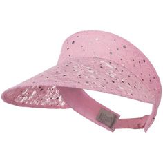 SS Sophia Lace Glitter Sun Visor - Pink W40S33D Women Fashion Casual c1ab432a18a2
