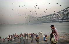 """Calcutta at the """"holy river""""... Can't believe I was there for 2 months."""