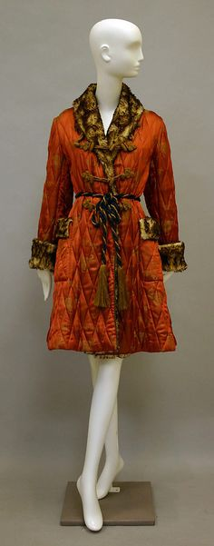 Coat, Jean Paul Gaultier, F/W 1994-95, French, synthetic, faux fur and silk