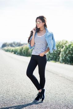 Spring Sneaker Outfit - Stylishlyme.com