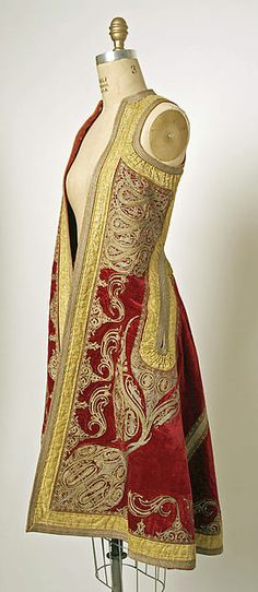 Coat Date: 19th century Culture: European, Eastern Medium: silk Dimensions: Length at CB: 42 1/2 in. (108 cm)