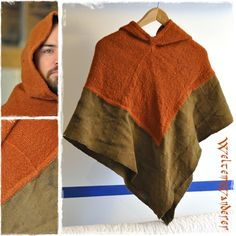 how to enlarge the standard Viking hood. Viking Hood, Viking Garb, Viking Dress, Viking Reenactment, Norse Clothing, Medieval Clothing, Historical Costume, Historical Clothing, Historical Photos