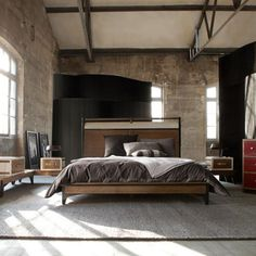 I don't know what I like most about this room: the high ceiling or that massive bed.