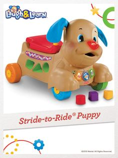 "Fisher-Price Laugh & Learn Stride-to-Ride Puppy - Fisher-Price - Toys ""R"" Us Toys R Us, Kids Toys, Down Syndrome Baby, Mattel, Fisher Price Toys, Ride On Toys, Holiday Wishes, Cool Toys, Baby Toys"