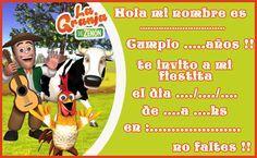 Invitacion Tarjetita Candy Bar La Granja De Zenon 3 Kit