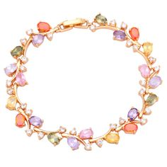 Find More Charm Bracelets Information about New 2016 18k Yellow Gold Plated Bracelet Color topaz Bracelets for Women's fashion jewelry pulseras 19cm 7.48 inch B440,High Quality bracelet cloth,China bracelet leather Suppliers, Cheap bracelet tool from Dana Jewelry Co., Ltd. on Aliexpress.com