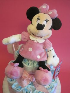 Tarta de pañales mini con peluche Disney store