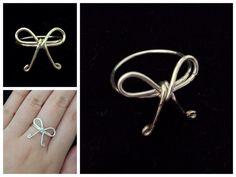 Bow ring https://www.facebook.com/simplyshapedjewelry