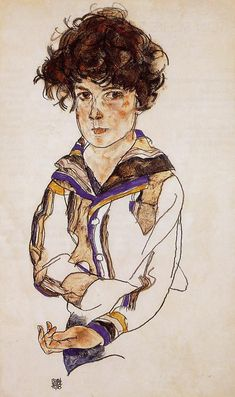 Young Boy by @engonschiele #expressionism