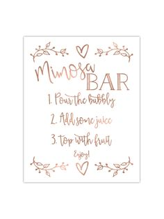 photograph about Mimosa Bar Sign Printable Free referred to as 13 Excellent Mimosa bar signal pics in just 2017 Several shower, Kid