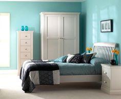 Dormitorio color aguamarina