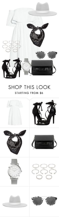 """""""#703"""" by blendingtwostyles ❤ liked on Polyvore featuring Paper London, Schutz, Alexander McQueen, Proenza Schouler, Larsson & Jennings, Forever 21, Janessa Leone and Taylor Morris"""