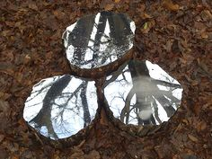 Artist Lee Borthwick installs mirrors in nature to offer a sense of peace and self-reflection. #art #installation #peace