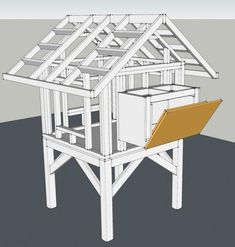 Chicken Coop - DIY instructions for a backyard chicken coop. (Im currently in scoping the LOE phase :-) Building a chicken coop does not have to be tricky nor does it have to set you back a ton of scratch. Chicken Coop Designs, Small Chicken Coops, Chicken Coop Run, Portable Chicken Coop, Backyard Chicken Coops, Building A Chicken Coop, Chickens Backyard, Backyard Farmer, Chicken Home