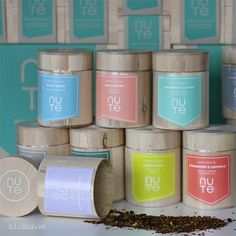 Mix of teas and blends from Nute. 10 different teabags. Nutes exclusive organic teas are beautifully packaged in wooden boxes. Their teas combines ancient tea traditions with modern flavors and blends influences from the Far East and Teas, Wooden Boxes, Wood Boxes, Wooden Crates, Tees, Cup Of Tea, Tea, Wood Crates