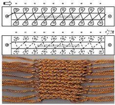 Stitch Diagram & Photo of Swatch (My Paraiso: Tear Points)