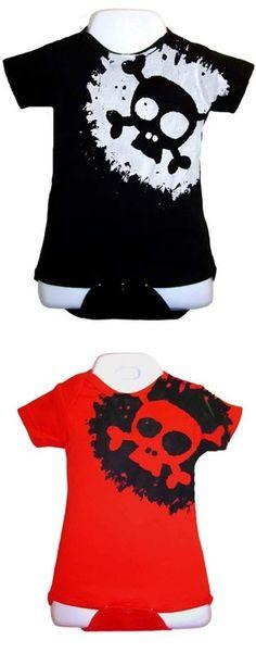 Punk Rock Baby Onesie: Splatter Skull