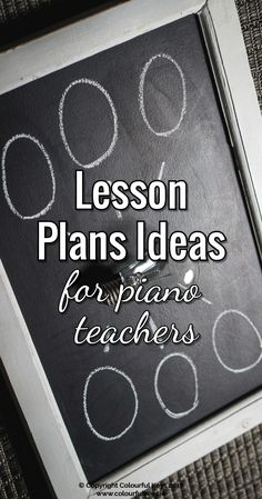 Find the perfect lesson plan template for you and your piano students http://colourfulkeys.ie/3-styles-lesson-plans-piano-teachers/