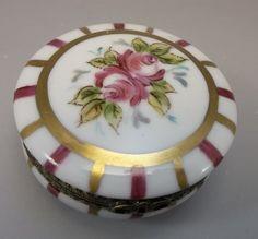 Peint Main Limoges Trinket Box Hand Painted by FleetwoodAntiques