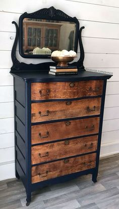 Dresser Accented in Coastal Blue | General Finishes Design Center