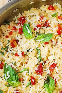 Parmesan, Sun-Dried Tomato, and Basil Rice