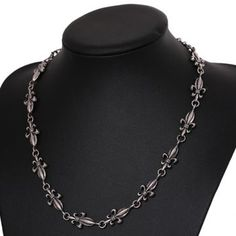 $5.58 Retro Women's Cross Flower Link Design Necklace