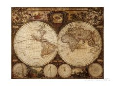 Vintage Map by Kuzma. Art Print from AllPosters.com, $29.99