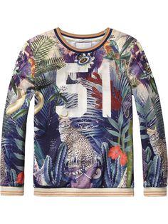 Photo Print Sweater |sweat|Girls Clothing at Scotch & Soda