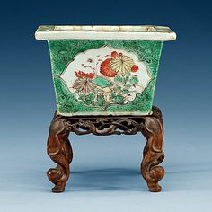 YTTERFODER, porslin. Qing dynastin, Kangxi (1662-1722).