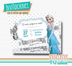 Invitación frozen - Tarjetita frozen imprimible
