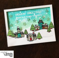 Good morning crafty friends! It's one more week closer to the holidays, and I have another card for you today. Today's card was pret...