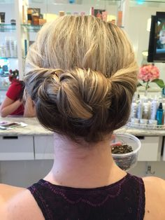 Updo I did on a fellow stylist!! #LoveMyJob
