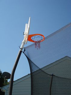 Basketball Hoop on a Skywalker Trampoline