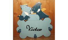 Porte manteaux mural victor et lucien