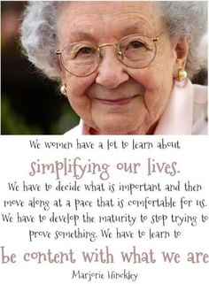 AMEN! I wish women would be still & stop trying to compete & be like everyone else... be simple & be what your family needs!