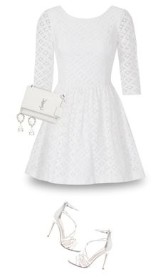 """Shades Of White-Invisible Doll"" by majezy ❤ liked on Polyvore featuring Lilly Pulitzer, Yves Saint Laurent, Steve Madden and Dolce&Gabbana"
