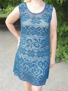 Как хорошо уметь вязать: Платье филейной вязанием, платье-от LENINA1973....