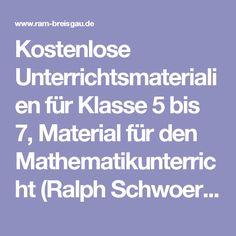 kostenlose unterrichtsmaterialien fr klasse 5 bis 7 material fr den mathematikunterricht ralph schwoerer - Erlebniserzahlung Beispiel