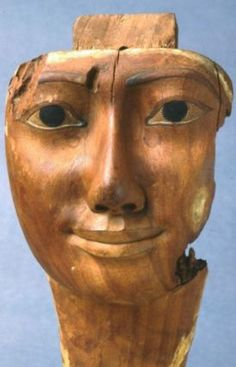 Face from a coffin,egyptian,third intermediate period,Dynasty 21-24  1085-751 BC.Tomb equipment.