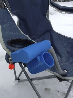 camping chair right rod holder by Crapeye http://thingiverse.com/thing:66689