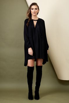 Fast Fashion - Morrisday The Label Cara Swing Dress - Black