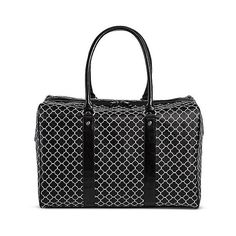 Bueno Print Weekender Handbag - Black/White ($45) ❤ liked on Polyvore featuring bags, overnight bag, black and white bag, weekend bag, pattern bag and print bags