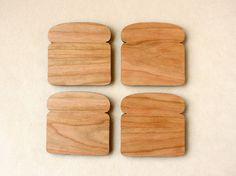 Bread Slice Toast Coasters
