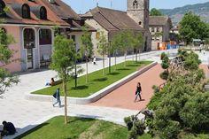 Place des Anciens-Fossés by Hüsler & associés « Landscape Architecture Works | Landezine