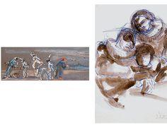 Opere di Dolores Puthod #CommediaDellArte #FerruccioSoleri #DoloresPuthod #PiccoloTeatro #ReggiaDiMonza #EXPO2015 #Disegno #Arlecchino